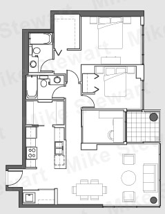 Tower I 05 Two Bedrooms & Den